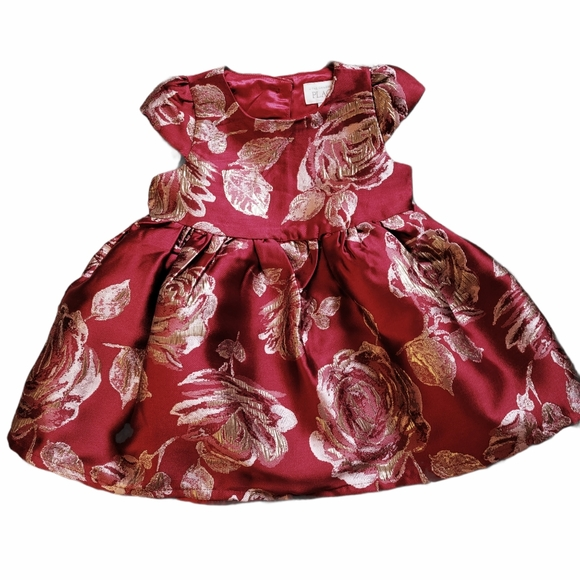 New The Children's Place Red Floral Dress